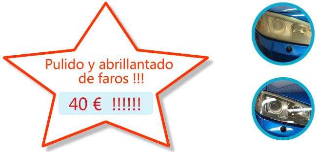 Pulido y abrillantado de faros po 40 €.!! .